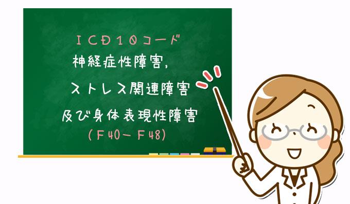 神経症性障害, ストレス関連障害及び身体表現性障害(F40-F48)