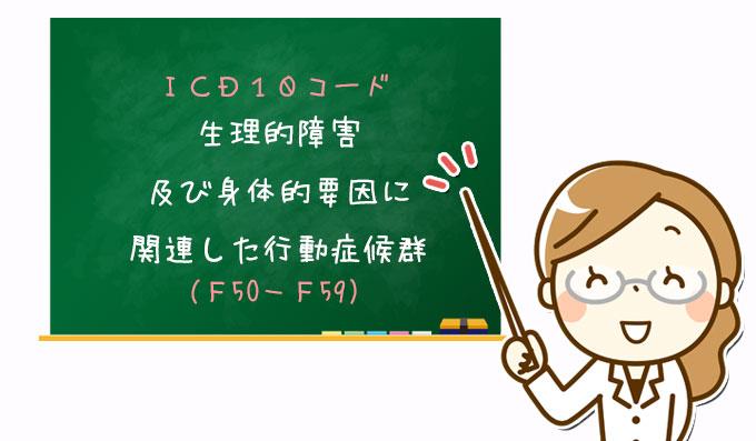 生理的障害及び身体的要因に関連した行動症候群(F50-F59)